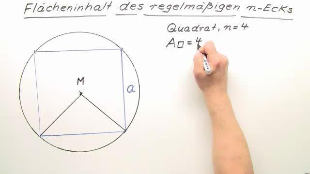 Flächenformel des regelmäßigen n-Ecks