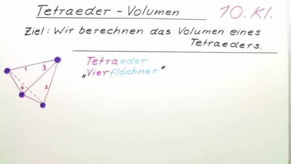 Tetraeder – Volumen
