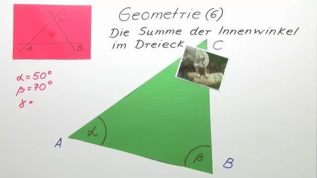 Die Summe der Innenwinkel im Dreieck – Lerne Geometrie