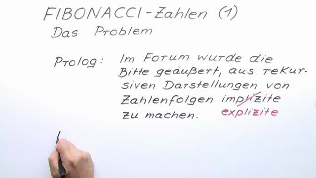 Fibonacci-Zahlen – Das Problem