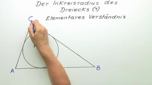 Inkreisradius von Dreiecken – Einführung