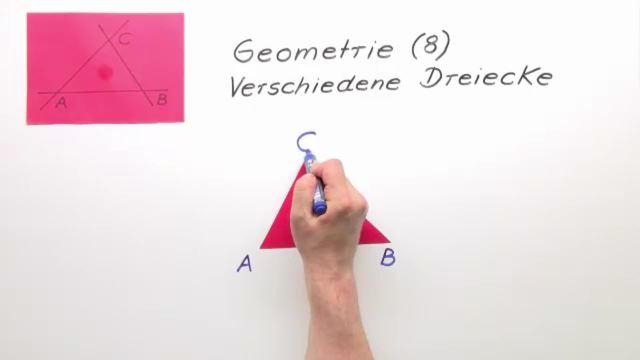 Lerne die verschiedenen Dreiecke in der Geometrie kennen