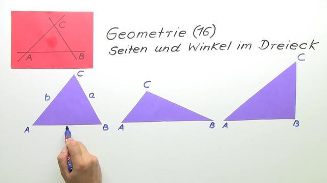 Seiten und Winkel im Dreieck – Online lernen mit sofatutor