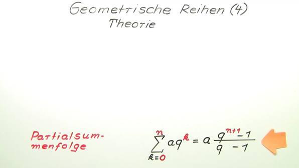 Geometrische Reihen – Theorie