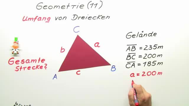 Umfang von Dreiecken