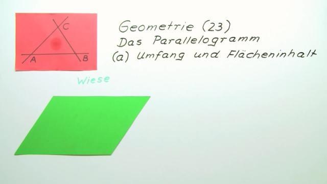 Flächeninhalt und Umfang von Parallelogrammen berechnen