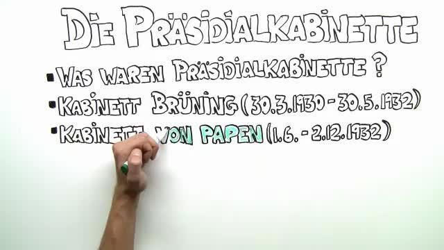 Die Präsidialkabinette – Einfach erklärt (inkl. Übungen)