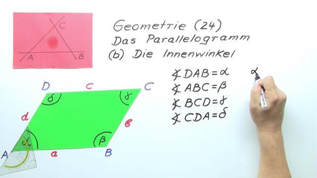 Innenwinkel im Parallelogramm