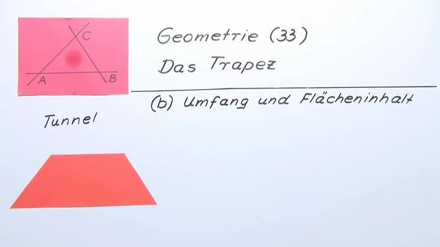 Trapez – Umfang und Flächeninhalt