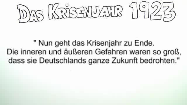 Das Krisenjahr 1923