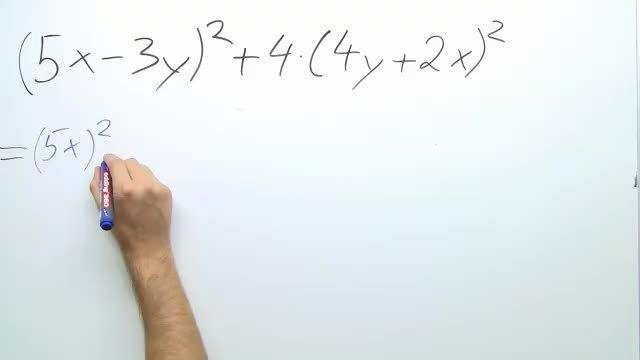 Rechnen mit binomischen Formeln