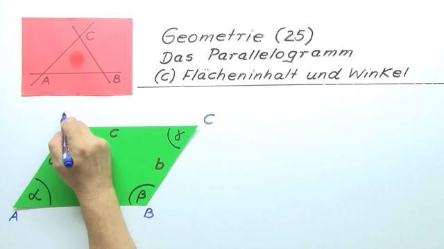 Flächeninhalt und Winkel von Parallelogrammen – sofatutor