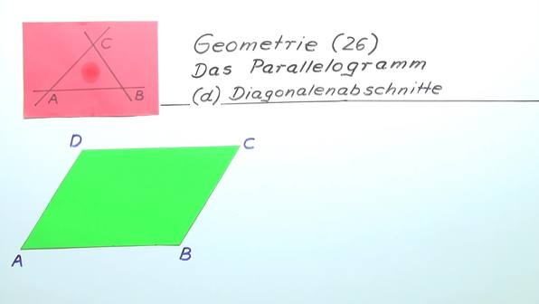 Diagonalenabschnitte im Parallelogramm
