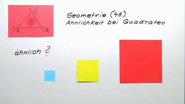 Ähnlichkeit bei Quadraten
