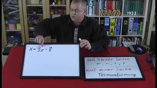Lineare Gleichungen lösen – Beispiel (8)