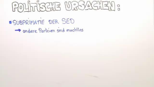 Die Ursachen der Revolution in der DDR
