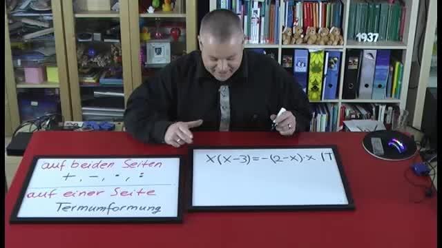 Lineare Gleichungen lösen – Beispiel (11)