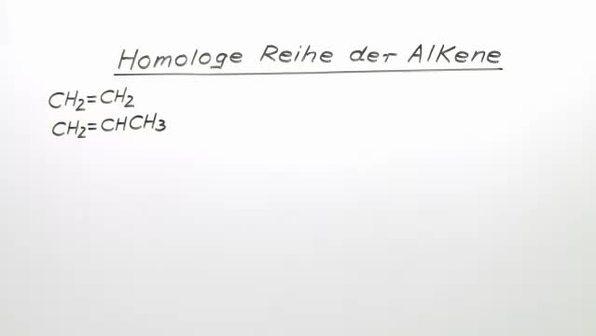Homologe Reihe der Alkene