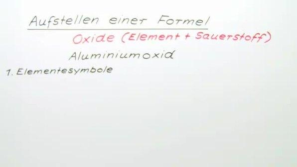 Aufstellen einer Formel