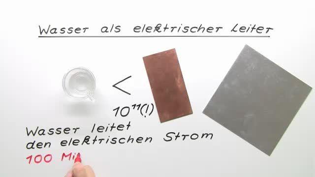 Wasser als elektrischer Leiter