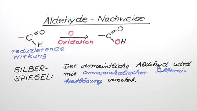 Aldehyd – Nachweise