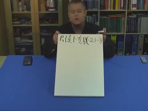 Geradengleichung bestimmen – Gegeben: Punkt, Punkt (Übungsvideo)