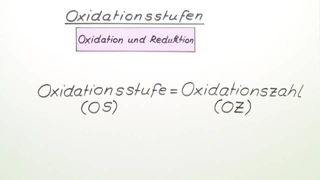 Oxidationsstufen bestimmen leicht gemacht