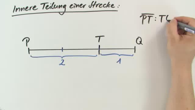 Innere und äußere Teilung einer Strecke – Mathematik online lernen