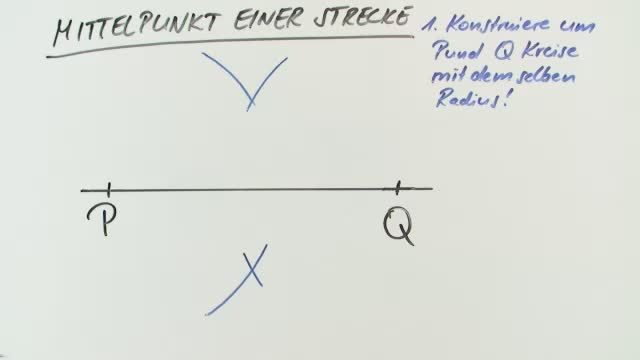 Mittelpunkt einer Strecke und Schwerpunkt eines Dreiecks ...