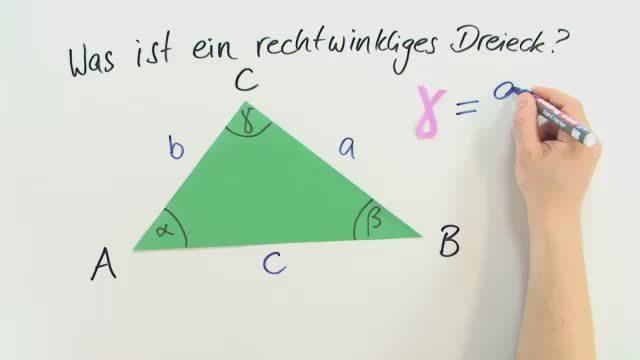 Rechtwinklige Dreiecke und Satz des Thales – In 4 Minuten erklärt.