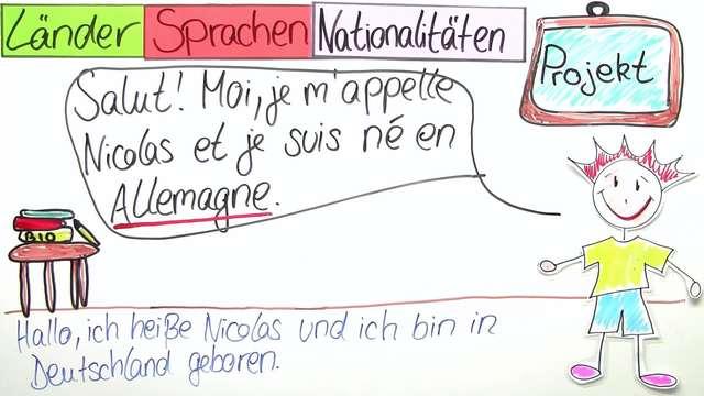 Länder, Sprachen und Nationalitäten (Übungen & Arbeitsblätter)