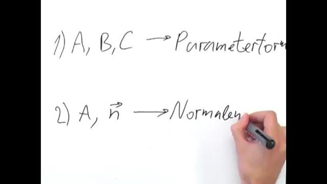 Ebenengleichungen in Normalenform