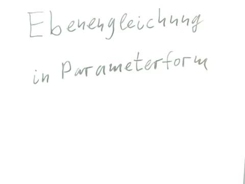 Ebenengleichungen in Parameterform – Einführung