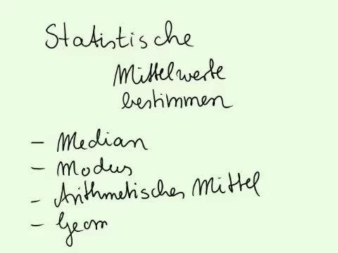 Statistische Kennwerte – Überblick