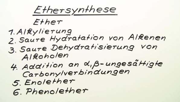 Ethersynthese