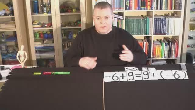 Kommutativgesetz mit negativen Zahlen – Erklärung