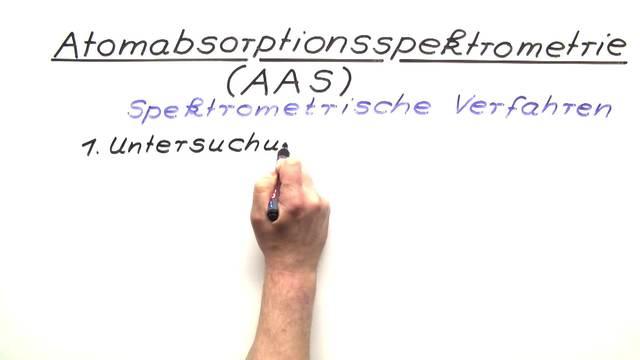 Atomabsorptionsspektroskopie (AAS)