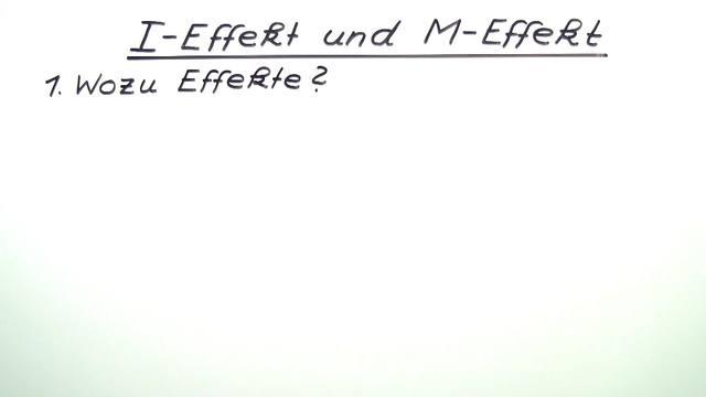 I-Effekt und M-Effekt