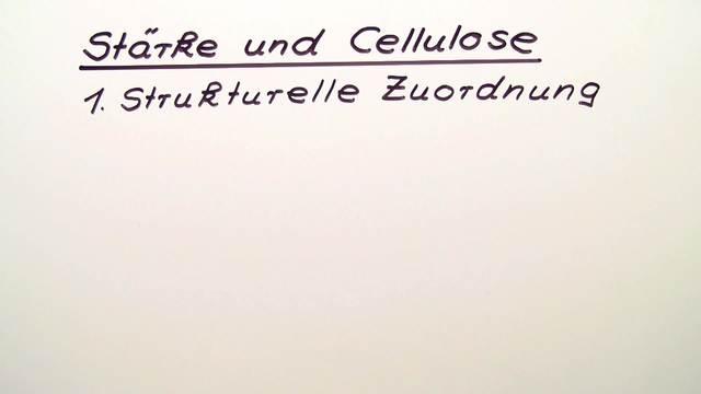 Stärke und Cellulose