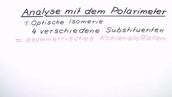 Analyse mit dem Polarimeter