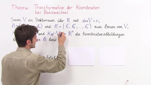 Theorie 2: Transformation der Koordinaten bei Basiswechsel ...