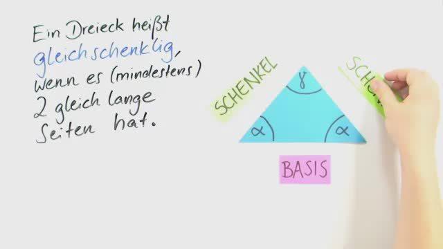 Gleichschenklige Dreiecke und der Basiswinkelsatz
